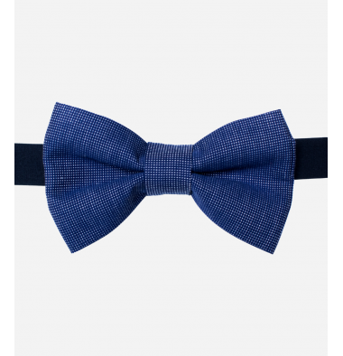 Blue Bow Tie with Pattern