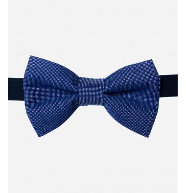 Papillon Blu con Micro Fantasia